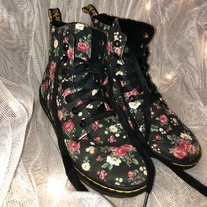 Dr. Martens AirWair Floral Ankle Boots